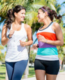 Women running outdoors Royalty Free Stock Photo