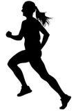 Women running on white six Stock Photography