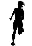 Women running on white three Stock Photos