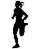 Women running on white twelve Royalty Free Stock Photo