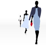 Women on the runway Royalty Free Stock Photo