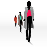 Women on the runway Royalty Free Stock Images