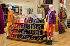Women' s在超级市场泰国模范的衣物部分 曼谷泰国 免版税库存照片