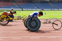 Women's 100 Meters Wheelchair Race Stock Photos