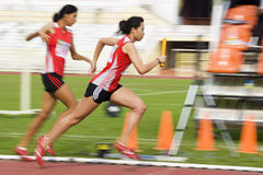 Women's 4x400 Meters (Blurred) Royalty Free Stock Photography