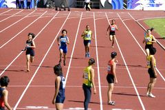 Women's 4x400 Meters Race Stock Photography