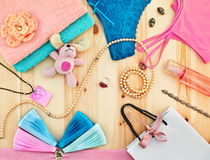 Women's accessories and jewelry Stock Photos