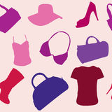 Women's Accessories seamless pattern Royalty Free Stock Photos