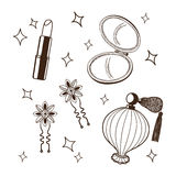 Women's accessories set. Stock Photo