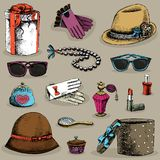 Women's accessories set Royalty Free Stock Images
