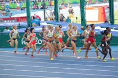 Women's athletics 5000m run Royalty Free Stock Photography