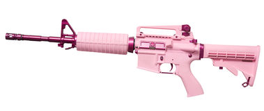 Women's automatic rifle Royalty Free Stock Image