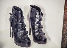 Women's Autumn boots, stylish Italian shoes Royalty Free Stock Photos