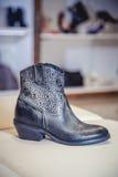 Women's Autumn boots, stylish Italian shoes Stock Images