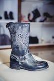 Women's Autumn boots, stylish Italian shoes Stock Image