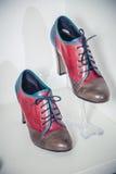 Women's Autumn boots, stylish Italian shoes Stock Photo