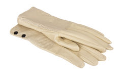 Women's autumn leather gloves Royalty Free Stock Photography