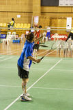 Women's Badminton for Disabled Persons (Blurred) Royalty Free Stock Photo