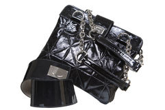 Women's bag and belt Royalty Free Stock Photography