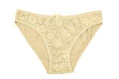Women& x27; s bawełniani majtasy kwitnęli odosobnionego na białym tle Zdjęcie Stock