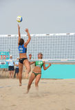 Women's Beach Volleyball Royalty Free Stock Photos