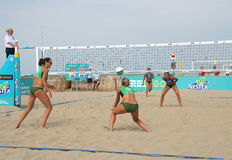 Women's Beach Volleyball Stock Image
