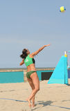 Women's Beach Volleyball Royalty Free Stock Photography