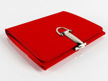 Women's beautiful red purse Stock Photo