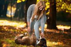 Women's Best Friend Stock Photos