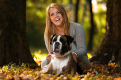 Women's Best Friend Royalty Free Stock Photos