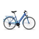 Women's bike. Women's mountain bike on white background. Vector illustration Stock Photos