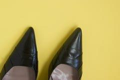 Women's Black High Heels Royalty Free Stock Image