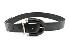 Women's black leather belt Stock Photo