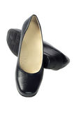 Women's Black Leather Shoes Stock Photography