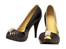 Women's black  shoes Stock Photo