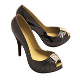 Women's black  shoes Royalty Free Stock Photo