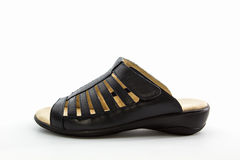 Women's black shoes. Royalty Free Stock Images