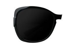 Women's black sunglasses. Modern women`s black sunglasses isolated on white background Royalty Free Stock Photography