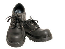 Women's Black Winter Shoes Stock Photo