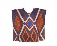 Women's Blouse with geometric pattern Stock Images