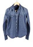 Women's Blue Denim Shirt #2 Stock Photo