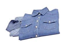 Women's Blue Denim Shirts #2 Stock Photo