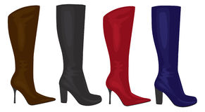 Women's boots. The figure shows the women's boots Stock Photography