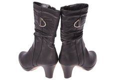 Women's boots (Clipping path) Royalty Free Stock Photos