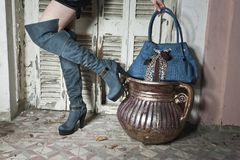 Women's boots Stock Photo
