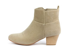 Women's boots on a white background Stock Images