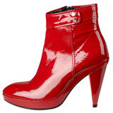 Women's boots. On a white background, isolated royalty free stock image