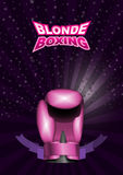 Womens boxing gloves pink. Vector sport background with cup. Ep. S 10 royalty free illustration