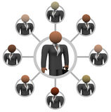 Women's Business Network Connections. Illustration of a network of business women, linked together for communication and mentoring Stock Image