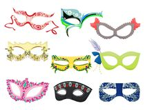 Women's carnival masks Royalty Free Stock Photography